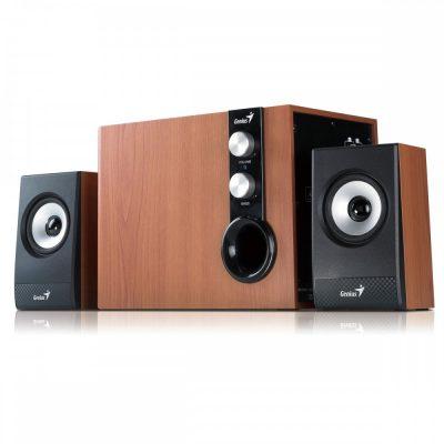 Boxa Genius 2.1 SW-HF2.1 1205 Wood, 30W RMS