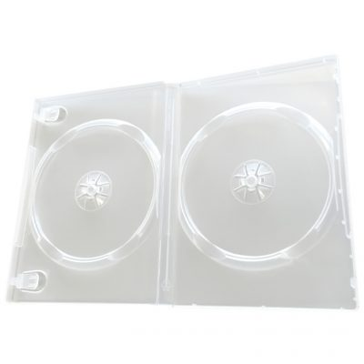 Carcasa 2 DVD Semi Transparent