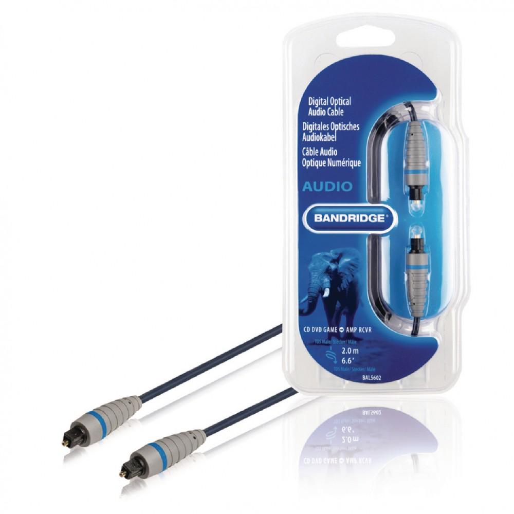 Cablu Optic Digital audio TOSlink - TOSlink, 2m, Bandridge BAL5602