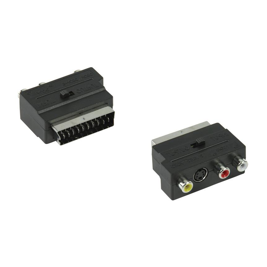 Convertor INperOUT Scart - 3XRCA + SVHS VLVP31902B
