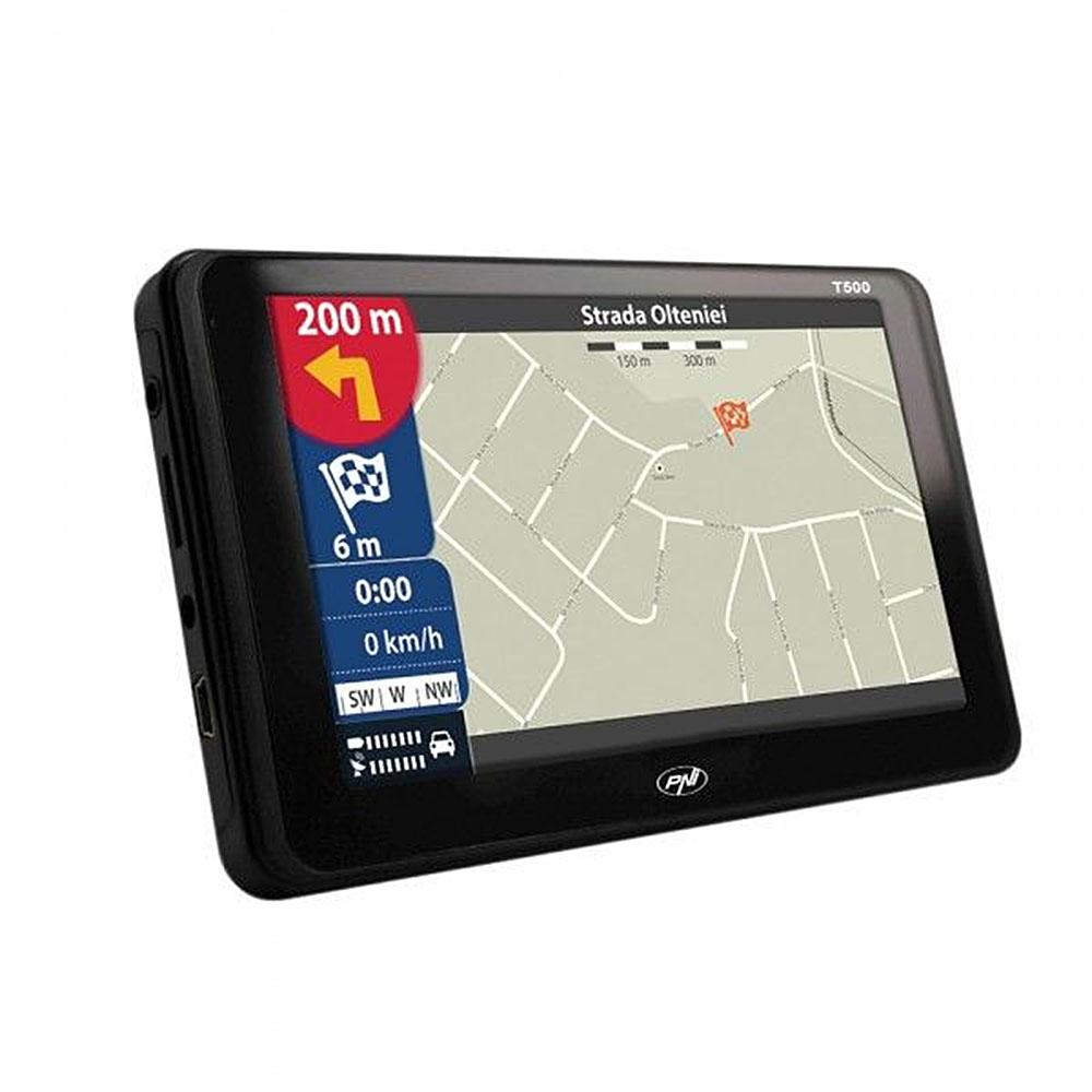 "Sistem de navigatie GPS PNI T500, 5"", FM transmitter"