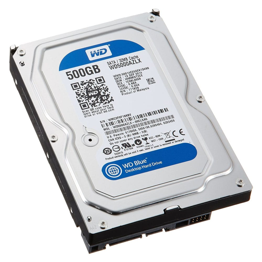 Hard Disk Desktop Western Digital 500GB, 7200RPM, 32MB, SATA-III, Blue