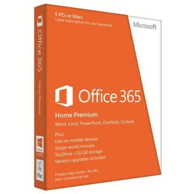 Microsoft Office 365 Home Premium, 32-bit/x64, English/Romana