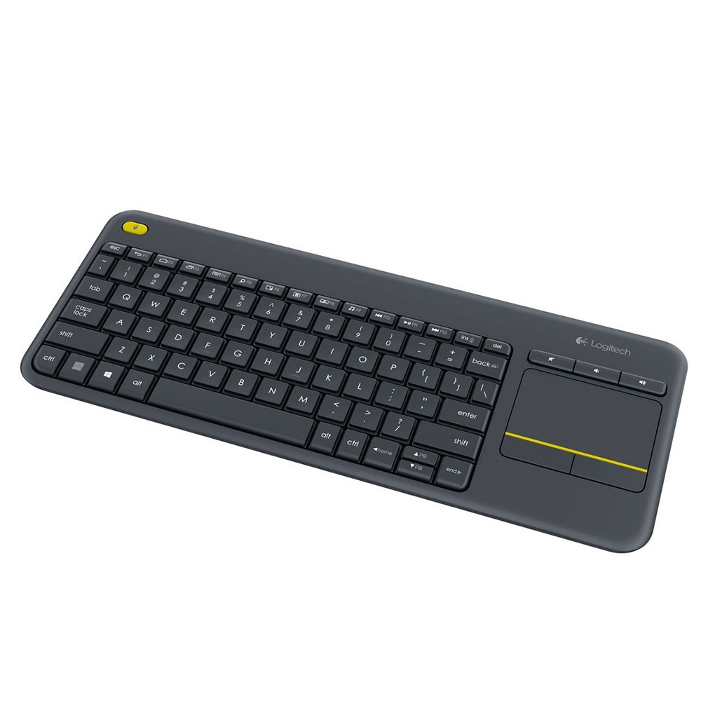 Tastatura Wireless Logitech K400 Plus Dark, Touchpad, Negru