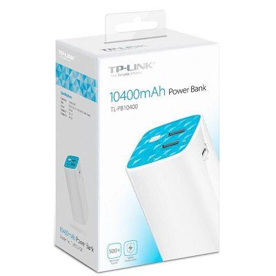 Acumulator extern TP-Link TL-PB10400, 10400 mAh, White