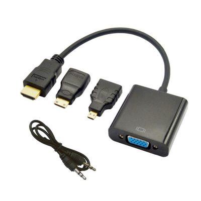 Adaptor HDMI - VGA cu Jack 3.5 T Stereo