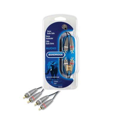 Cablu Stereo audio 2 x RCA - 2 x RCA, 5m, Bandridge Premium Performance BAL4202