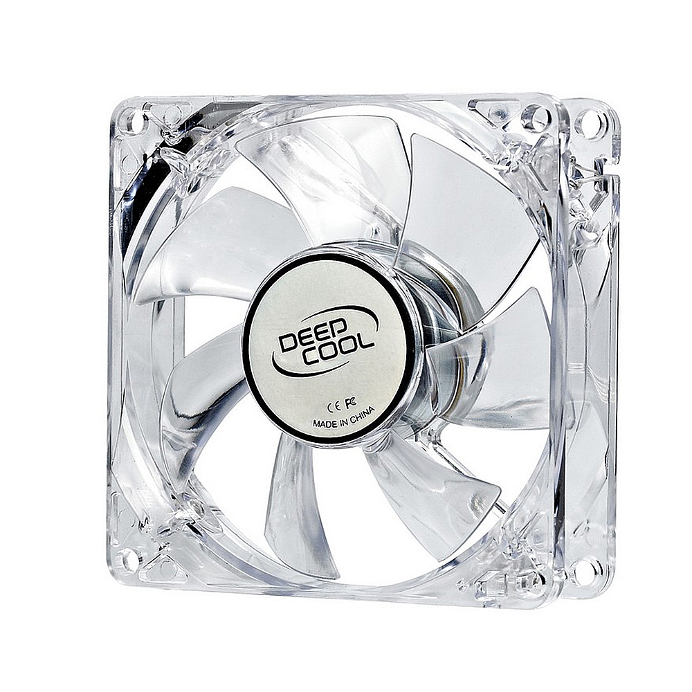 Cooler Deep Cool XFAN-DP-FLED-XF80LB, 80 CM, Iluminat, Albastru