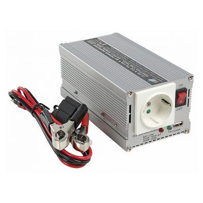 Inverter HQ HQ-INV300WU-24, 300W, DC/AC 24V - 230V, Argintiu