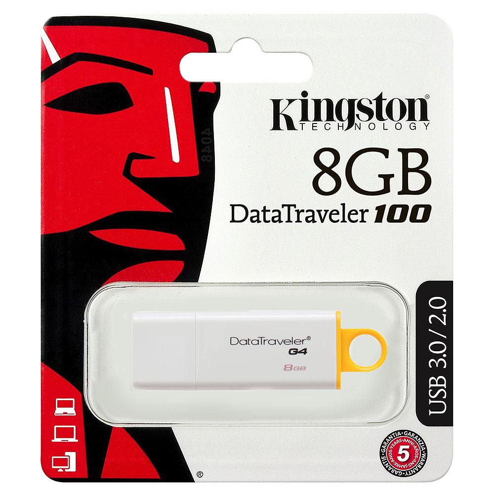 Flash Drive Kingston DT100 G4, 8GB, USB3.0