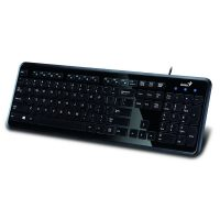 Tastatura Genius Slimstar i250, Black, USB