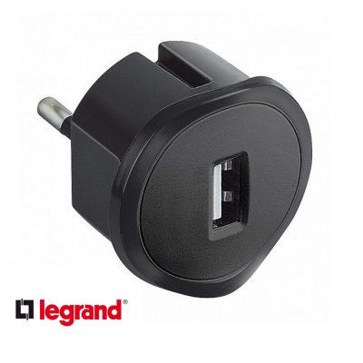 Incarcator USB Legrand, 5V, 1.5A, Negru