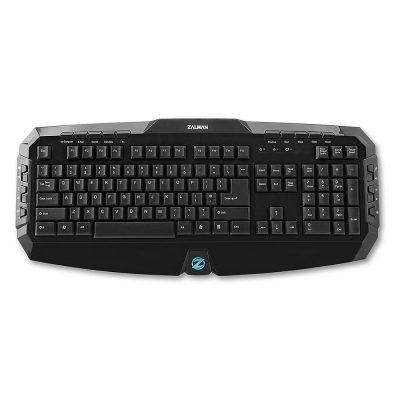 Keyboard Zalman ZM-K300M, USB, Illuminat, Negru