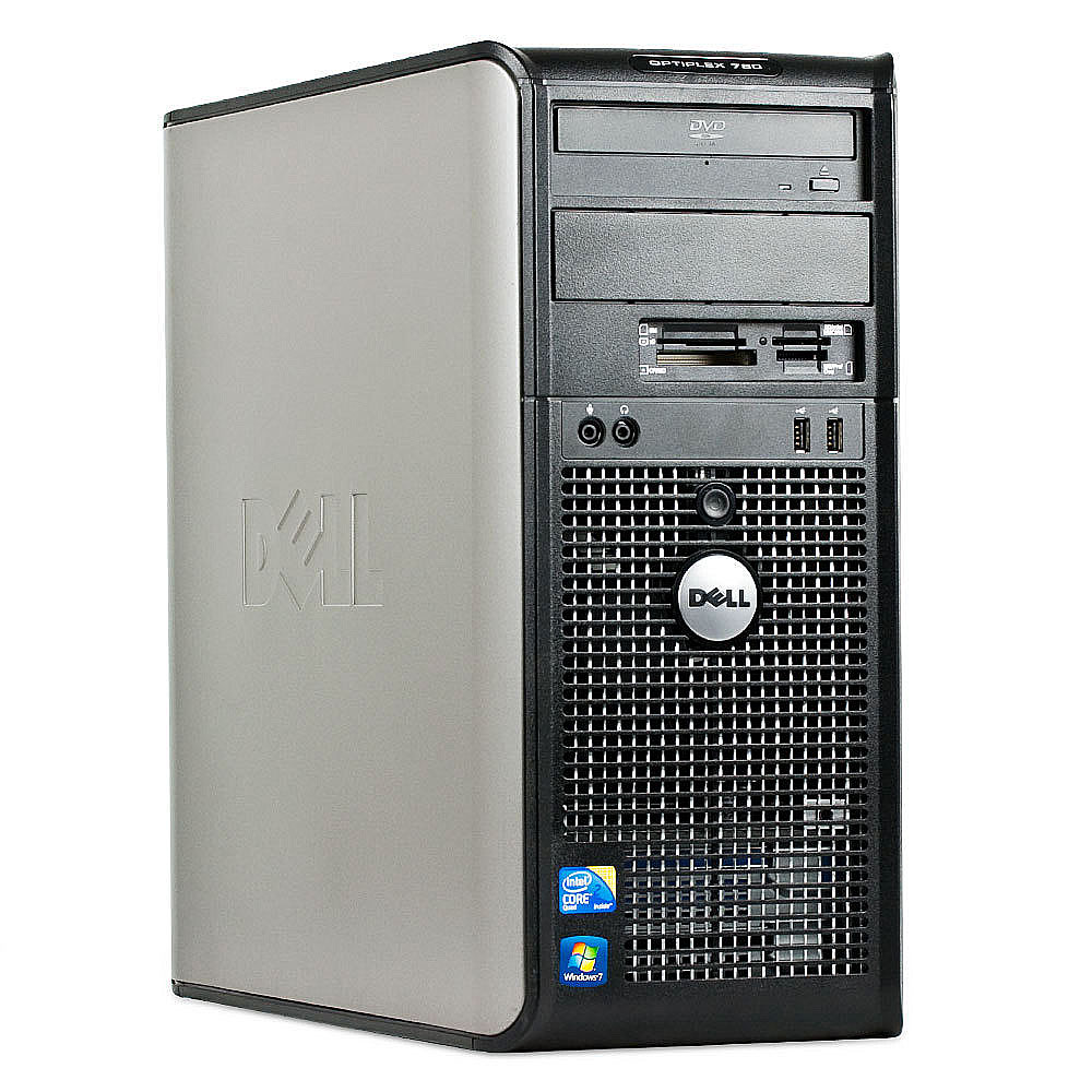 Calculator Dell Optiplex 780 Cu Procesor Core 2 Duo E8400 3.00GHz, 4GB DDR3, 160GB, DVD-RW, Licenta Windows 10, Negru
