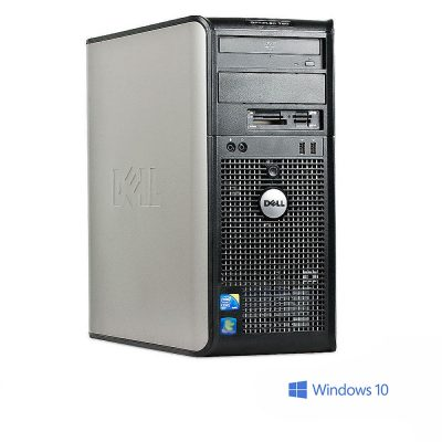 Calculator Dell Optiplex 780 Cu Procesor Core 2 Duo E8400 3.00GHz, 4GB DDR3, 160GB, DVD-RW, Licenta Windows 10, Negru