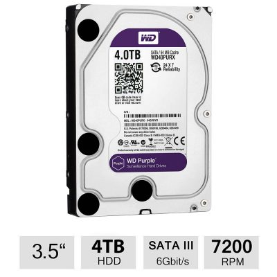 Hard Disk Survillance Western Digital WD40PURX 4TB SATA 64MB Purple
