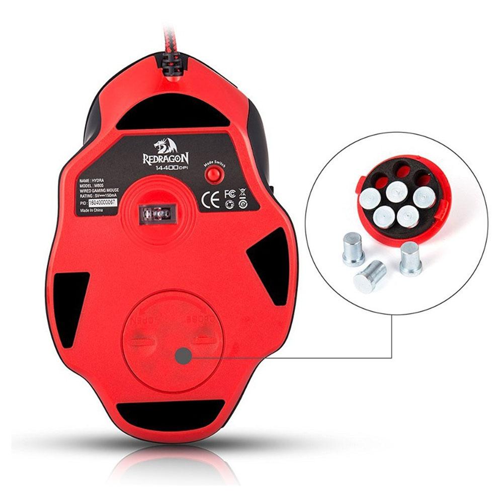 Mouse Gaming Redragon Hydra, USB, Negru