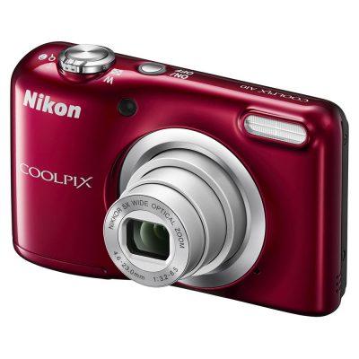 Aparat Foto Digital Nikon Coolpix A10, 16.1MP, Rosu, Cadou Husa Nikon