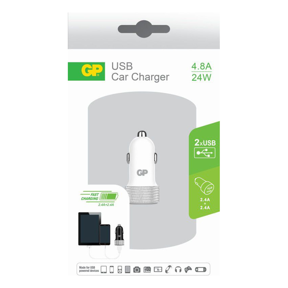 Incarcator Auto GP 2 x USB 2.0