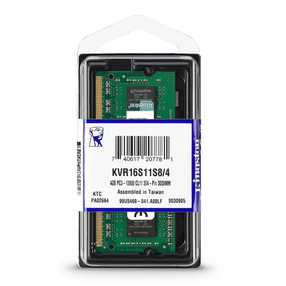 Memorie Laptop SODIMM Kingston 4GB, DDR3, 1600MHZ, CL11, 1.50V