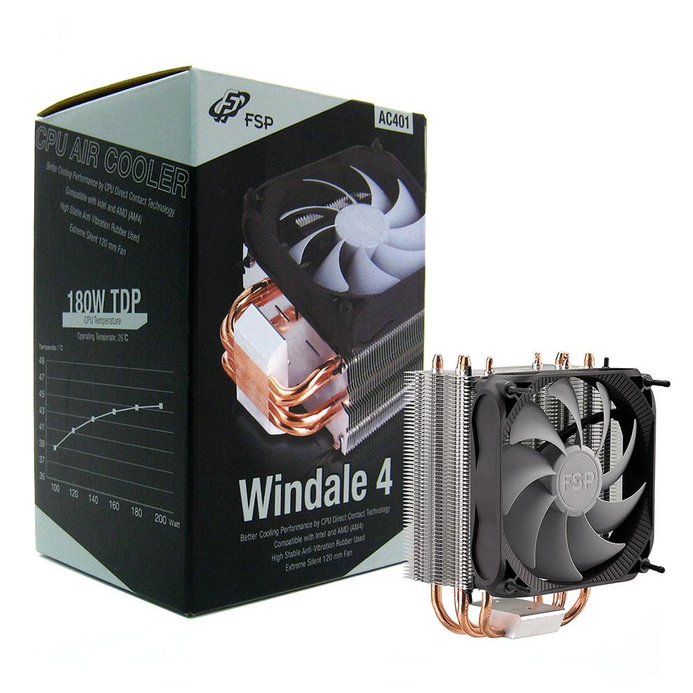 Cooler CPU FSP AC401, racire cu aer, ventilator 1x120mm PWM, 600-1600 RPM, Socket Intel/AMD