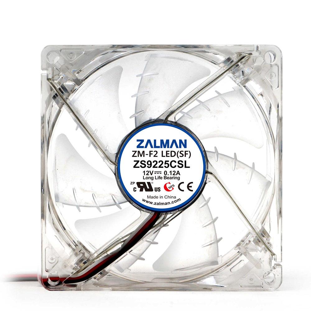 Cooler Zalman ZM-F3 LED (SF), 12CM, Illuminat LED Albastru