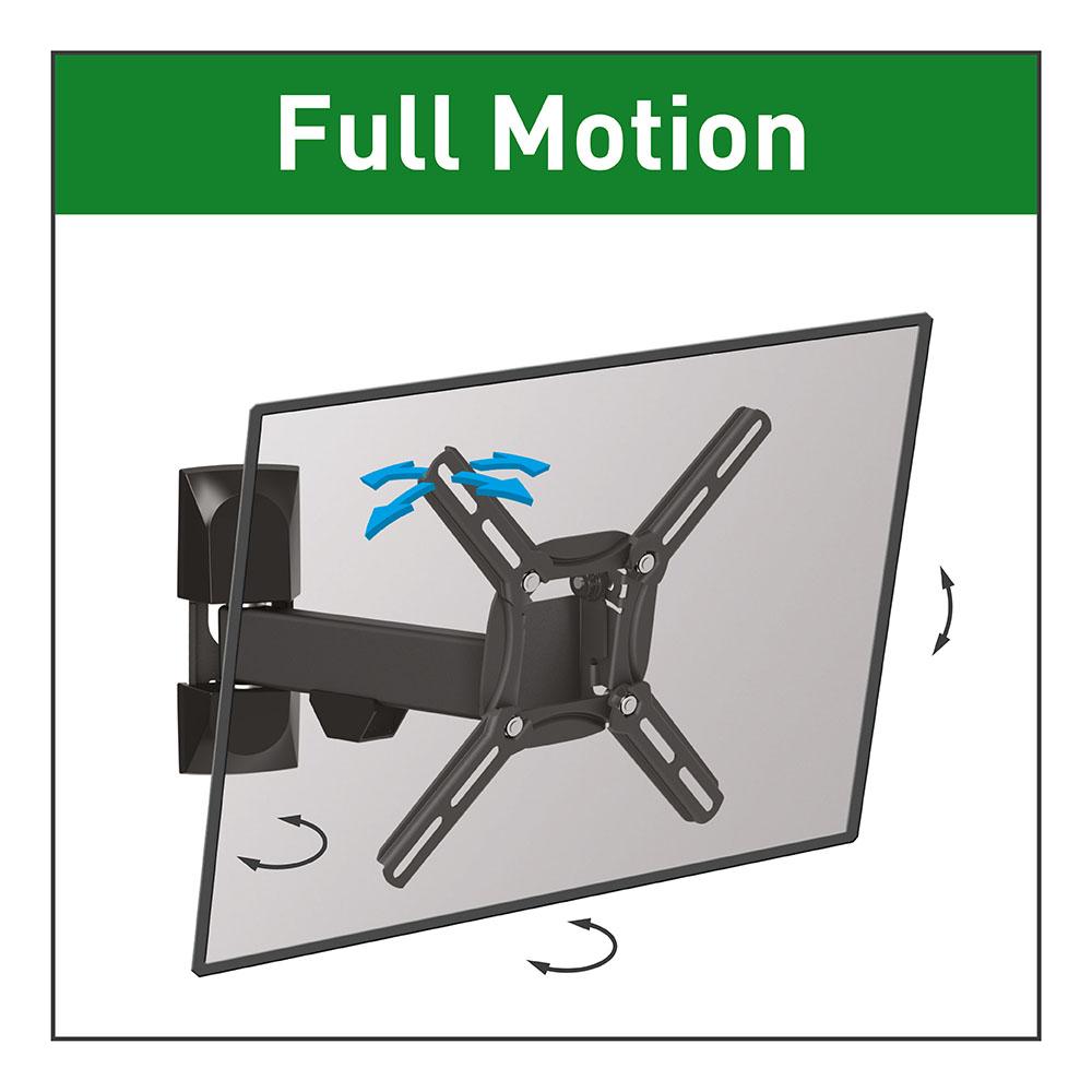 Suport TV Barkan 2300, Full Motion, Negru