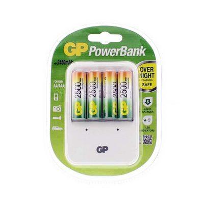 Incarcator GP PowerBank, Acumulatori GP 2500 mAh 4 buc