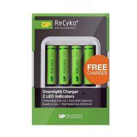 Incarcator GP Recyko Free Charger, Acumulatori 2700 mAh 4 buc