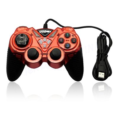 Gamepad Dual Shock 2 HPW-890, 21 Butoane, Cherry