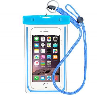 """Husa Subacvatica Pentru Smartphone cu Dimensiuni Max. 6"""", Albastru"""