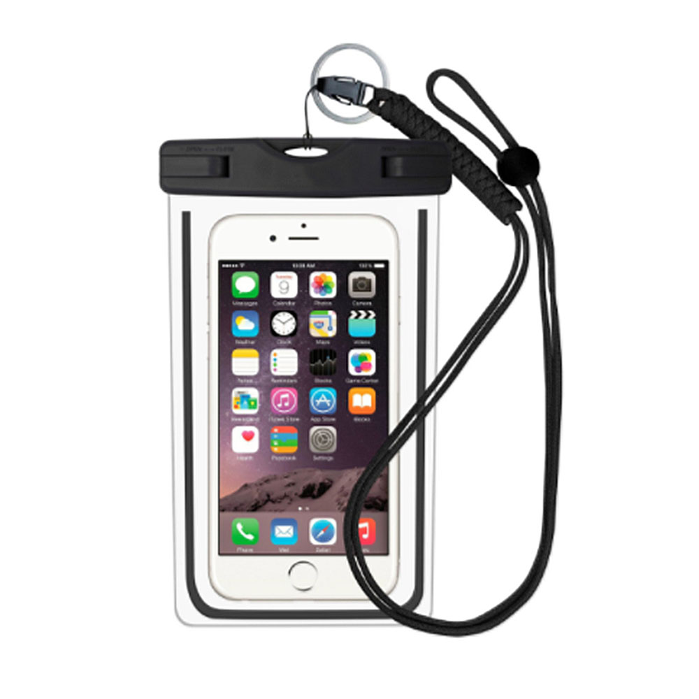 """Husa Subacvatica Pentru Smartphone cu Dimensiuni Max. 6"""", Negru"""