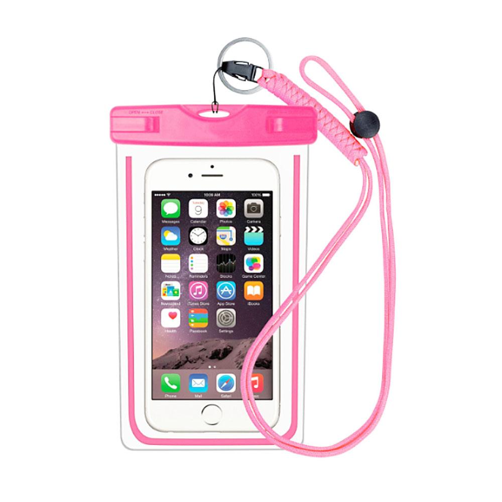 """Husa Subacvatica Pentru Smartphone cu Dimensiuni Max. 6"""", Pink"""