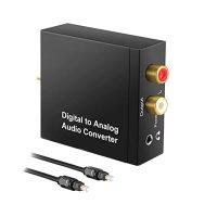 Adaptor Optical Digital Toslink - Analog 2xRCA, Jack 3.5mm