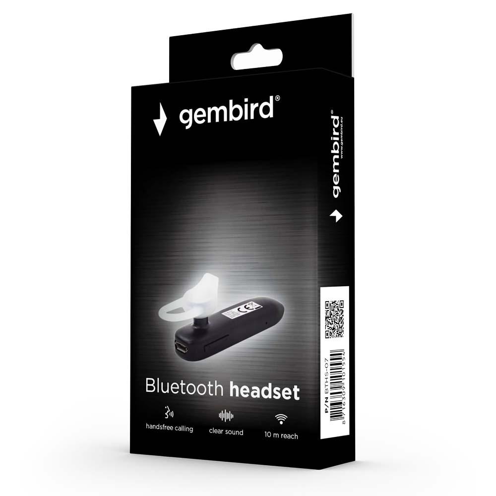 Bluetooth V4.1 Headset Gembird BTHS-07 Negru