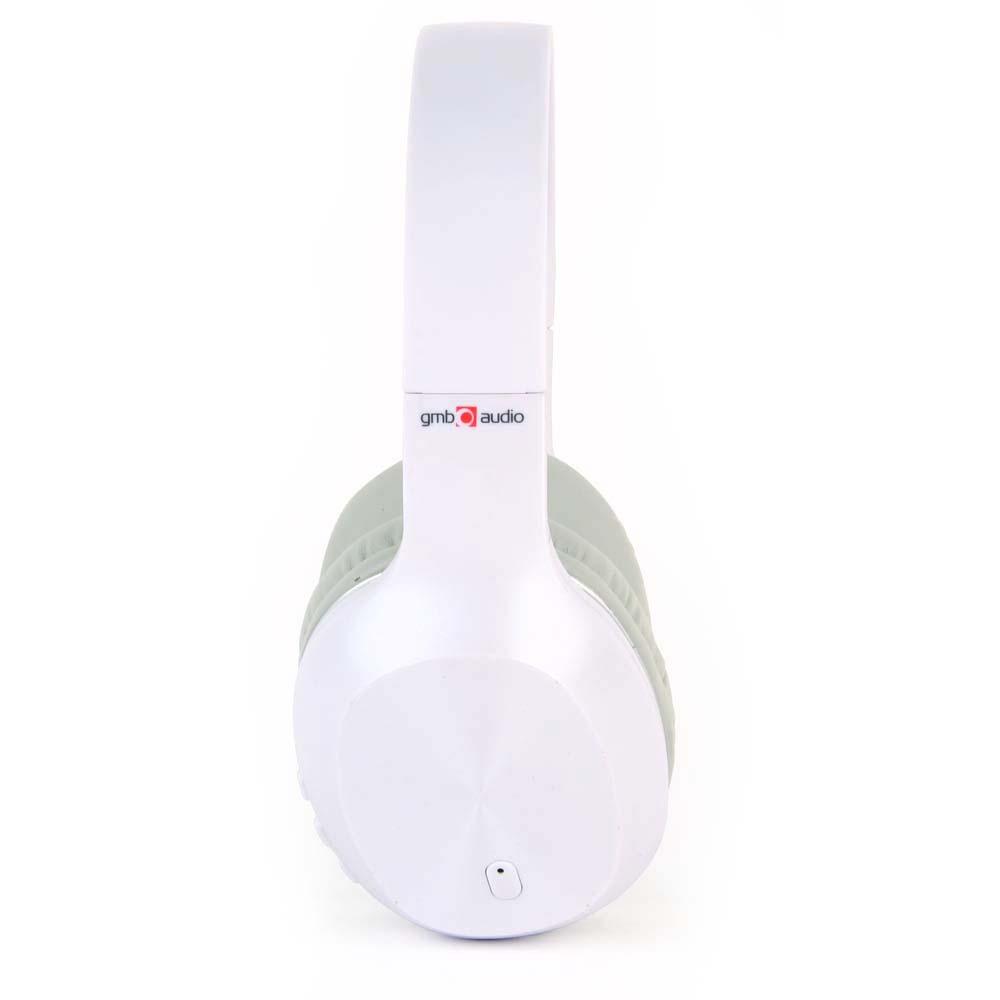 Casti Bluetooth Gembird MIAMI, Microfon, Alb