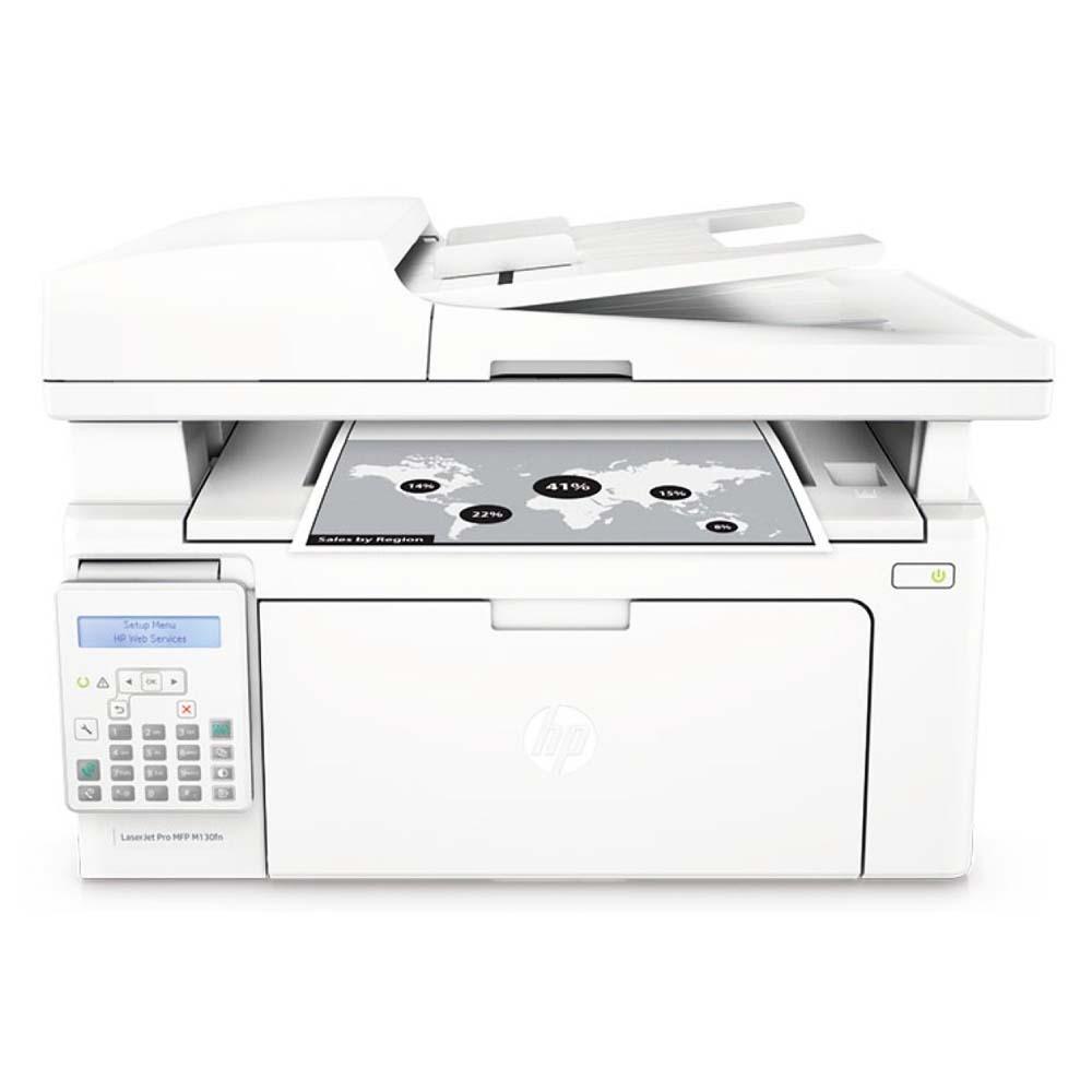 Imprimanta HP LaserJet Pro MFP M130fn, Laser mono, A4, Alb