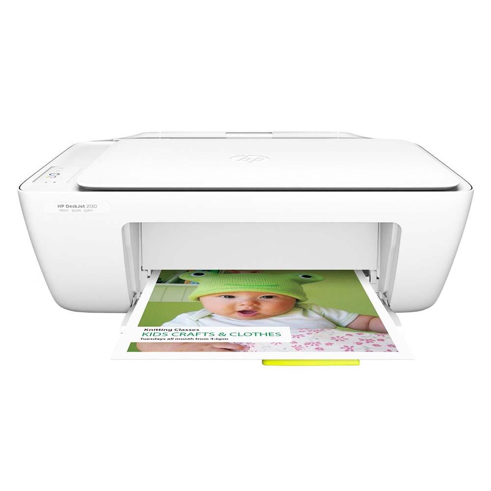 Imprimanta Multifunctional Inkjet Color HP DeskJet 2130 All-In-One, A4, Alb