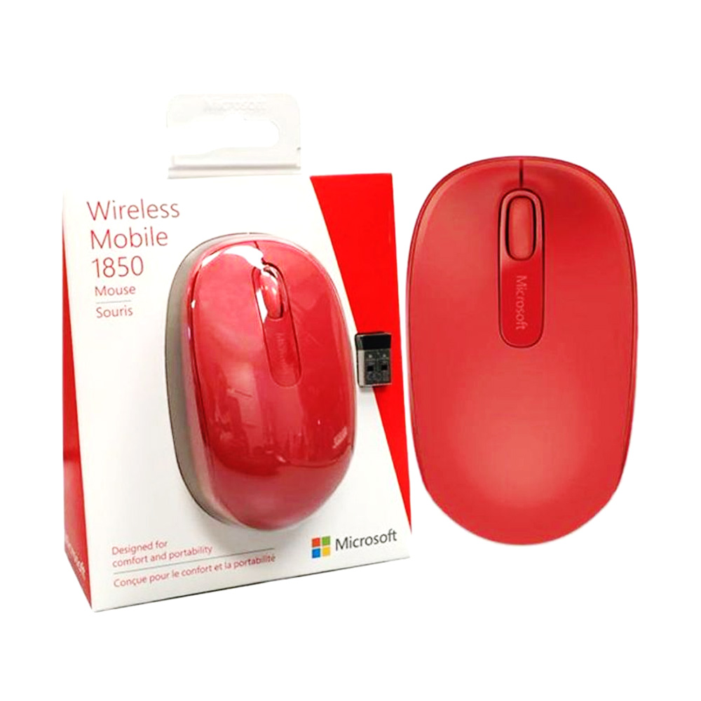 Mouse Wireless 2.4GHz Microsoft 1850 Rosu