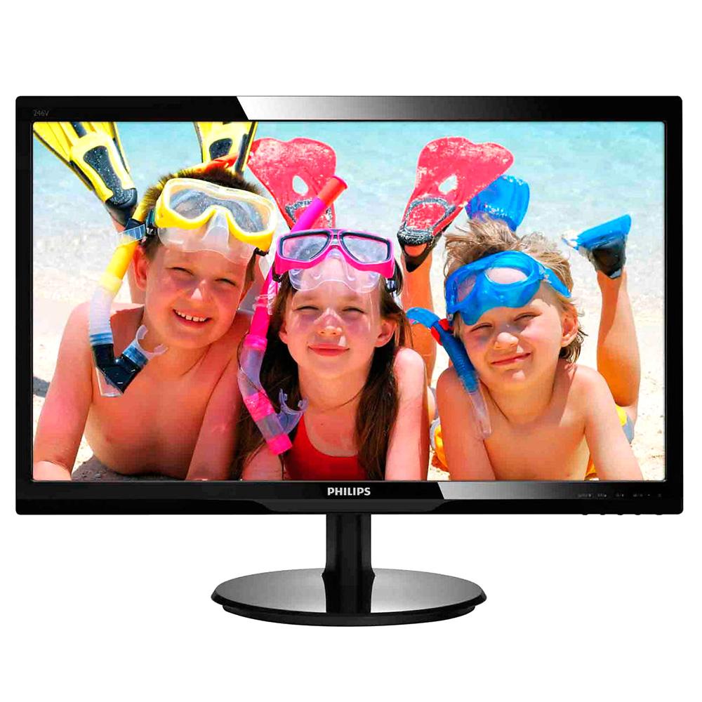 Monitor LED Philips 246V5LSB Wide Negru