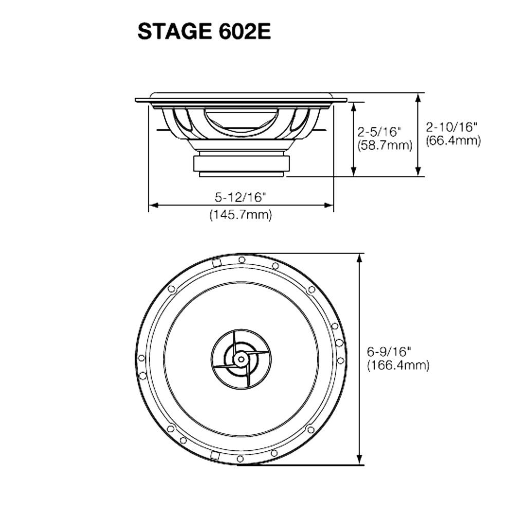 Difuzoare Auto JBL Stage 602E 165mm