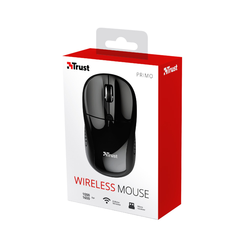 Mouse Wireless 2.4GHz Trust TR-20322 Negru