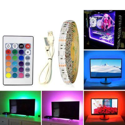 Banda LED RGB Multicolor cu Telecomanda