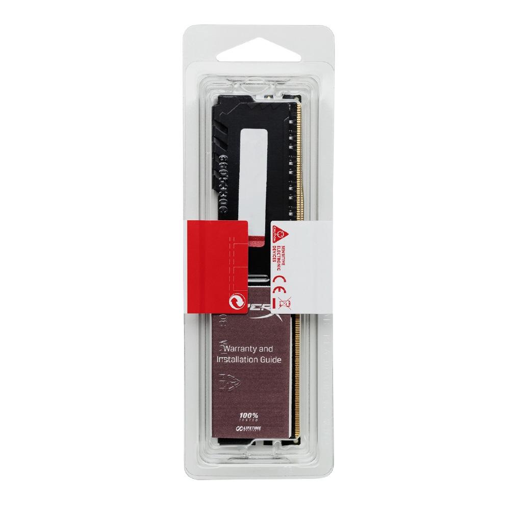 Memorie HyperX Fury Black 4GB, DDR4, 2400MHz, CL15, 1.2V