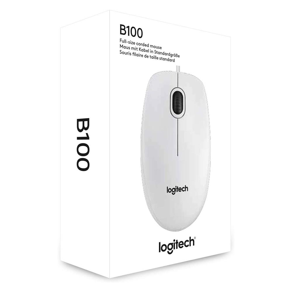Mouse Optic Logitech B100 USB Alb