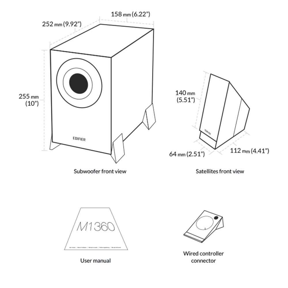 Boxe 2.1 Edifier M1360 8W RMS