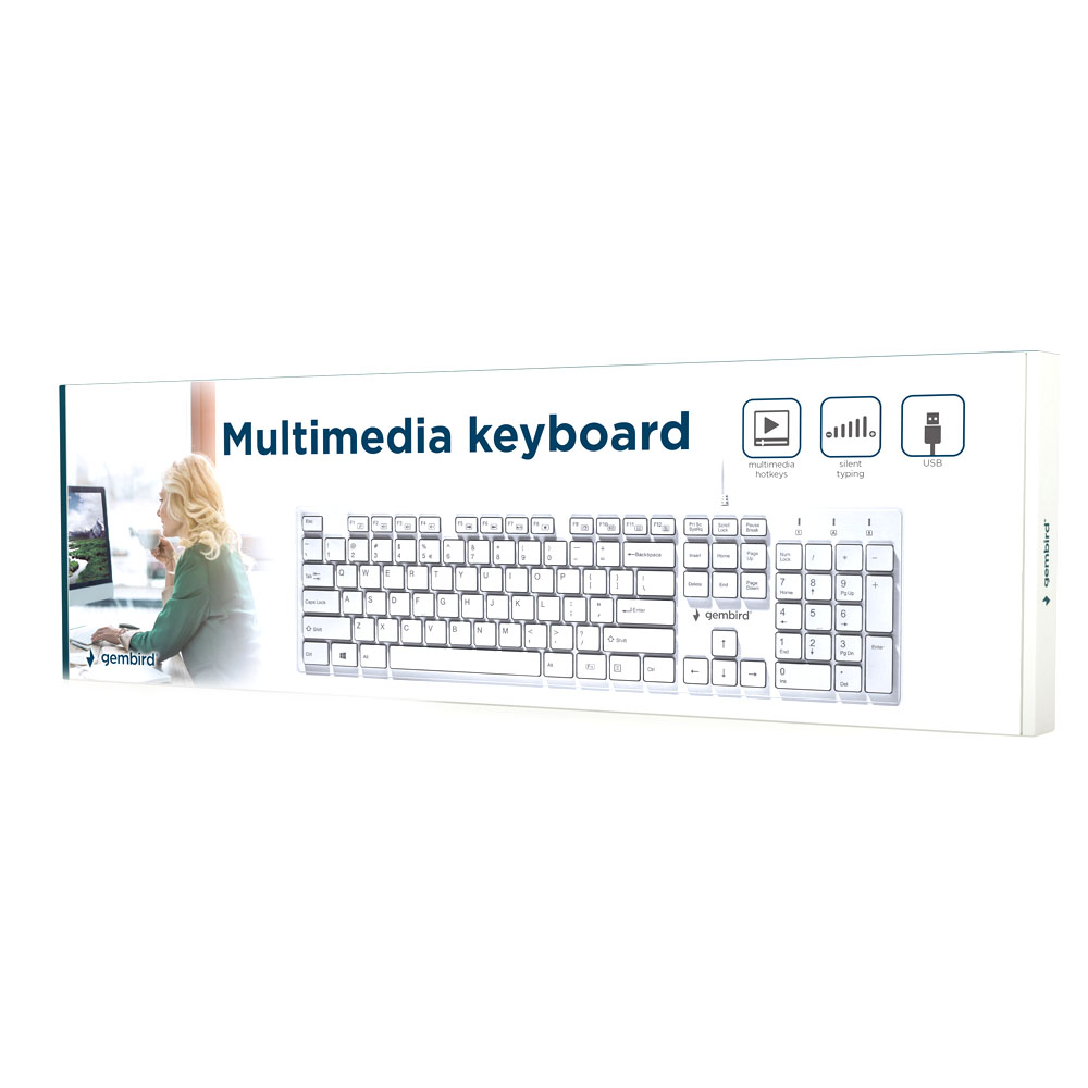 Tastatura Multimedia Gembird Chocolate US layout