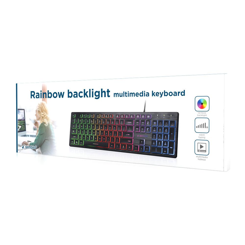 Tastatura Gembird KB-UML-01 Iluminata USB Layout US