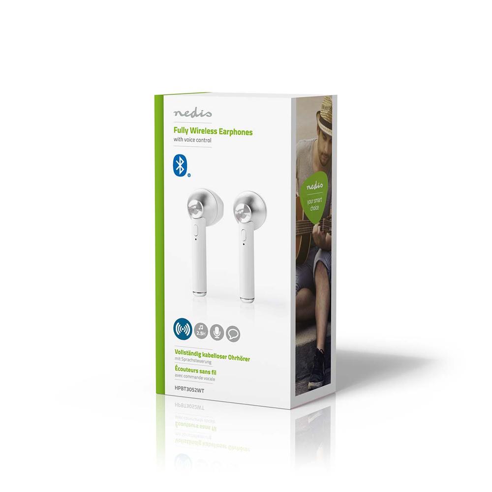 Casti Bluetooth 5.0 Nedis HPBT 3052WT