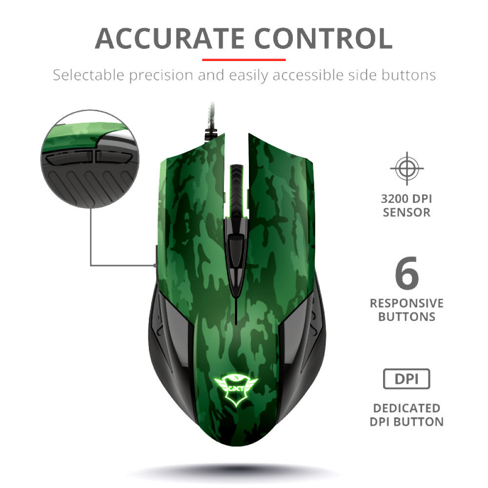 Mouse Gaming + Mousepad Trust GXT